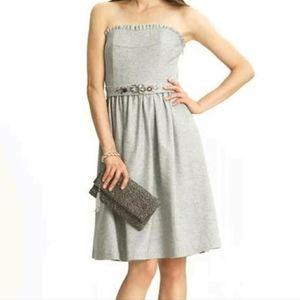 Banana Republic Grey Wool Strapless Dress Size 2